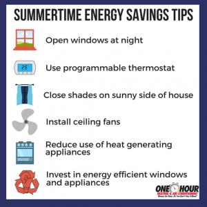 Summertime Energy Savings Tips
